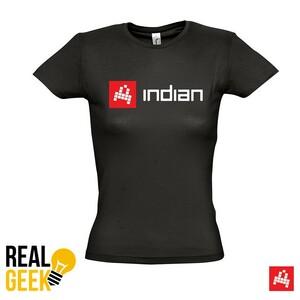 Dámské černé triko Indian