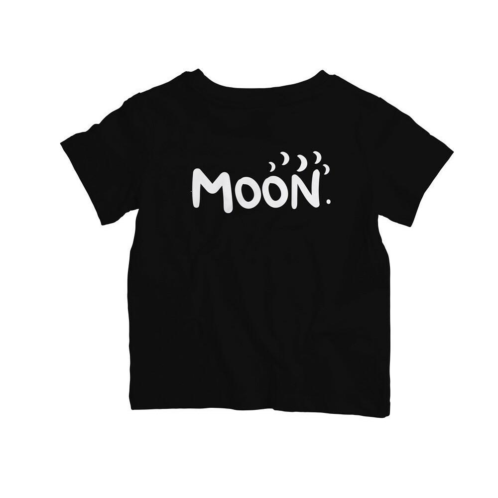 Dětské tričko Moon Černé