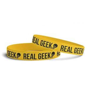 Náramek Real Geek Logo Žlutý