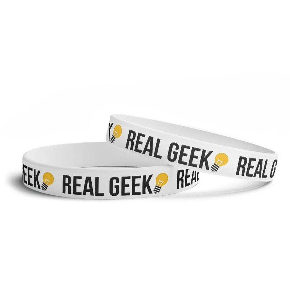 Náramek Real Geek Logo Bílý