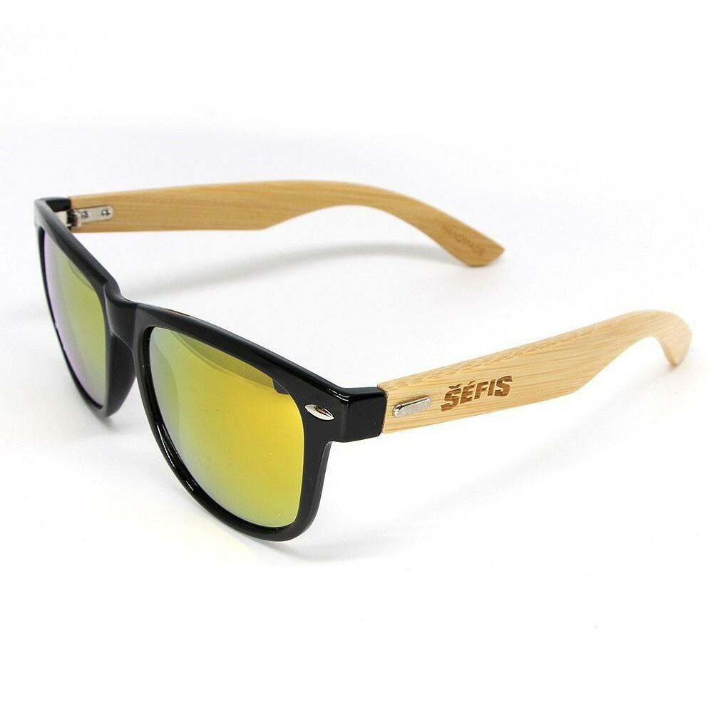 Sluneční brýle Šéfis Bambusové